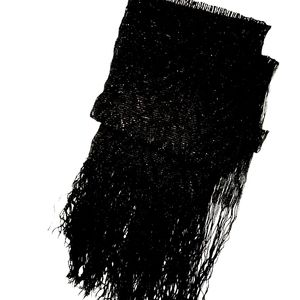 Accessories - 3 for $25 Black Thin Sparkly Fringe Scarf